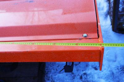 Почвофреза 1GQN 220 Оранжевая габаритные размеры
